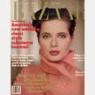 HARPER'S BAZAAR MARCH 1989 magazine ISABELLA ROSSELLINI cover Wendy Lehman Meredith Vieira