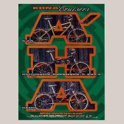 Magazine Ad for KONA Cruisers A'HA AHA KEIKI HUMUHUMU-NUKUNUKU-A-PUA'A Mountain Bike Bikes