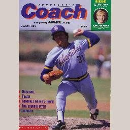 SCHOLASTIC COACH March 1989 Magazine TED HIGUERA Milwaukee Brewers BOB HINES Chris Henderson
