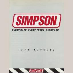 SIMPSON 1993 KARTING CATALOG Kart Driving Suits Gloves Shoes Restraint Helmets