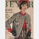 BEYER MODE August 1962 Italian Edition Magazine German Fashion