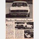 "HOT ROD Magazine 1986 Article ""ROCKY MOUNTAIN FEVER"" 1967 Chevrolet SS-RS CAMARO Roy Martin"