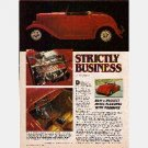 HOT ROD Magazine Article 1986 - 1932 FORD Full-Fendered RED Roadster Ragtop STRICTLY BUSINESS
