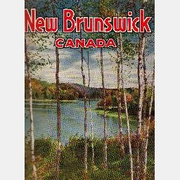 NEW BRUNSWICK Canada Vintage Vacation Information & Tourist Travel Brochure Booklet 1940 book