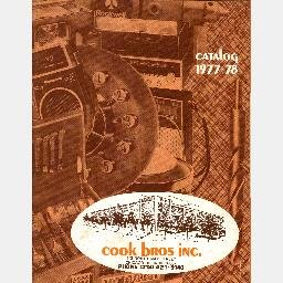 COOK BROS BROTHERS Catalog 1977-1978 Chicago IL catalogs book