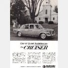 "Ad 1963 STUDEBAKER CRUISER ""Car of Quiet Substance"" Magazine"