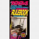 1994 OFFICIAL IHRA CHAMPIONSHIP DRAG RACING RULEBOOK Top Fuel Pro Stock Alcohol Funny Car Nitro