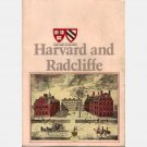 HARVARD AND RADCLIFFE College Catalog 1980-1981 Statistics Class of 1983, Cambridge MA Mass