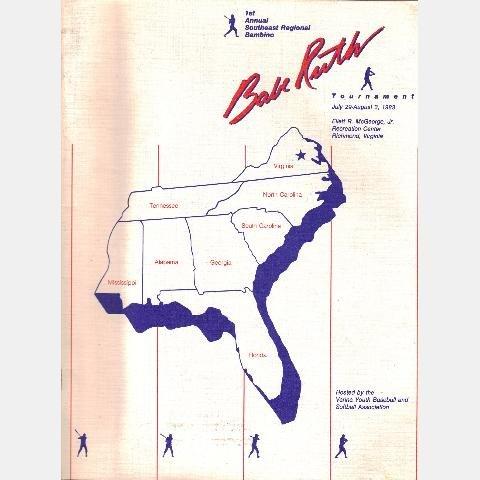 BABE RUTH TOURNAMENT 1983 1st Annual Southeast Regional Bambino VARINA Glen Allen Greenville Astros