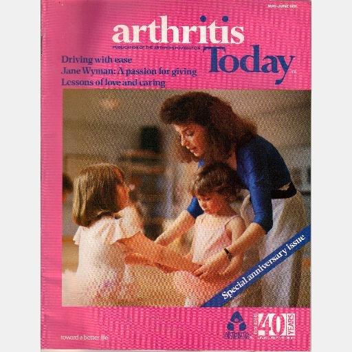 ARTHRITIS TODAY 1988 Magazine JANE WYMAN Gale Stoddard Jennifer Adams Tarry Strack Hypnosis LOT 2