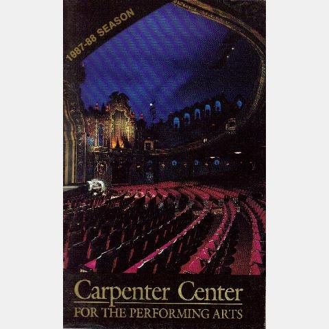 CARPENTER CENTER FOR PERFORMING ARTS 1987-1988 season calendar program Richmond VA LOEWS's THEATER