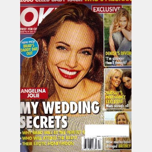 OK! 23 January 2006 Magazine Angelina Jolie Wedding Denise Richards Drake Bell Joan Collins Courtney