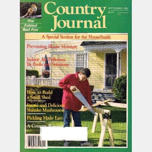 COUNTRY JOURNAL September 1987 Magazine Shiitake Mushrooms RED FOX Birmingham Barbecue Sauce