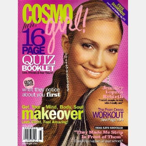 COSMO GIRL April 2005 Magazine Jennifer Lopez COVER