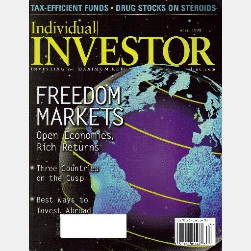 INDIVIDUAL INVESTOR April 1998 Magazine stocks Shuffle Master investing abroad Bel Fuse