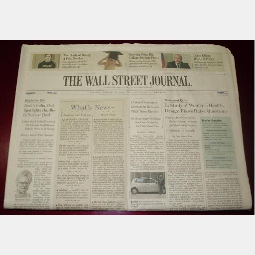 THE WALL STREET JOURNAL Tuesday February 28 2006 news newspaper single issue Hiring a Frat Brother
