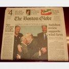 THE BOSTON GLOBE Wednesday March 29 2006 3 29 06 newspaper single issue Blackstone UNC IVORY LATTA