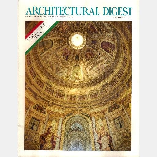 ARCHITECTURAL DIGEST January 1990 Magazine SPECIAL ITALY ISSUE LUCIANO PAVAROTTI Puccini Sandro Chia