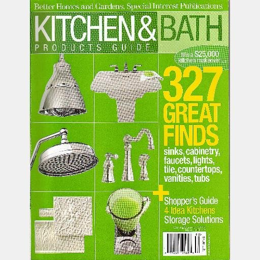 Better Homes Gardens KITCHEN BATH PRODUCTS GUIDE Magazine Spring Summer 2005 Special Interest