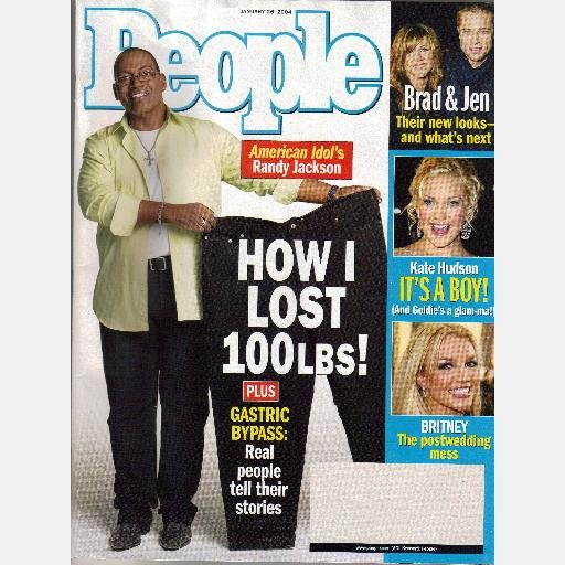 PEOPLE JANUARY 26 2005 Magazine Randy Jackson Lost 100 lb GASTRIC BYPASS American Idol