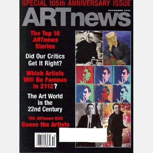 ARTnews November 2007 Magazine Art news Lindsay Pollock Brian Ulrich JEFF KOONS Meyer Schapiro