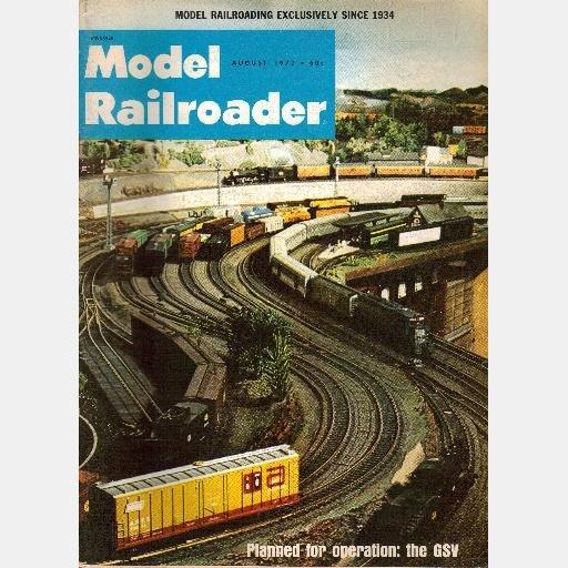 MODEL RAILROADER August 1972 Magazine GSV Philadelphia Western System Sorghum Trees