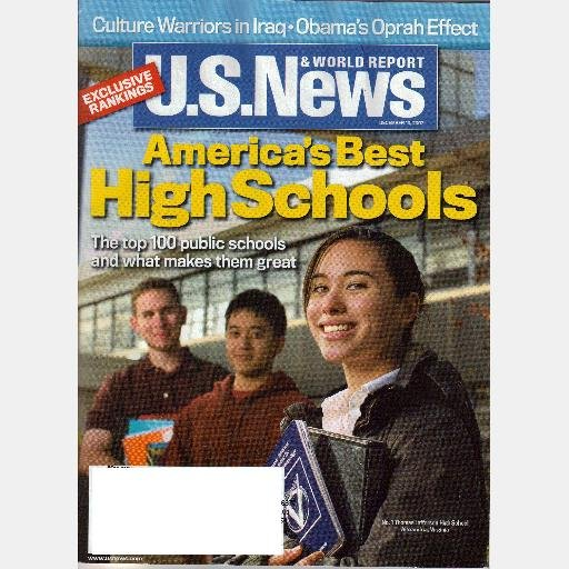 US U S News & World Report December 10 2007 Magazine AMERICA'S BEST HIGH SCHOOLS T Jefferson HS