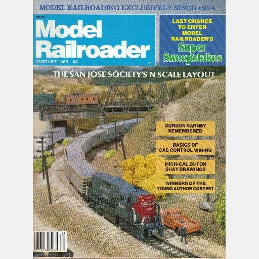 MODEL RAILROADER January 1985 Magazine smoked glass 1910 Balt & Ohio 4-4-0 Timber River RR