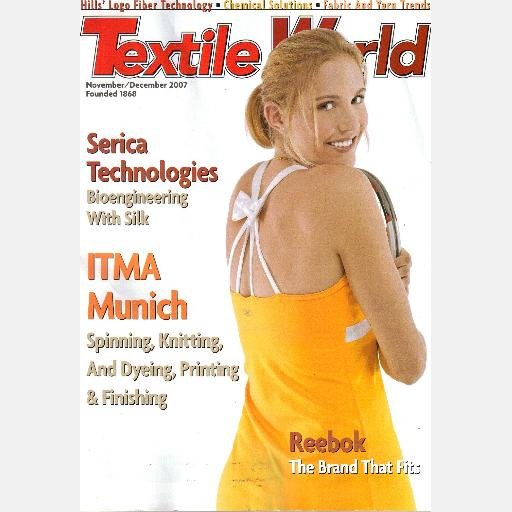 NICOLE VAIDISOVA Magazine cover TEXTILE WORLD November December 2007
