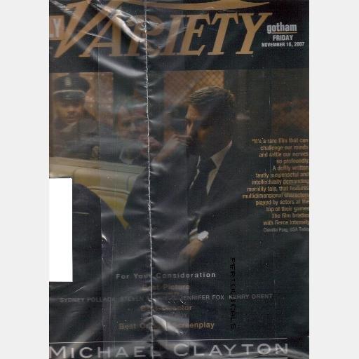 DAILY VARIETY GOTHAM November 16 2007 Magazine Michael Clayton GEORGE CLOONEY