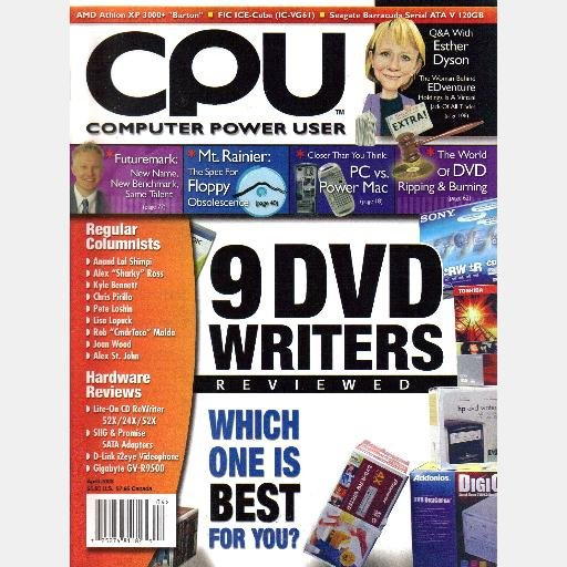 CPU COMPUTER POWER USER Magazine April 2003 AMD Athlon XP 3000 Esther Dyson FIC ICE-Cube IC-VG61