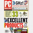 PC MAGAZINE December 24 2002 Awards for Technical Excellence SONY VAIO W series Dell Dimension 8250