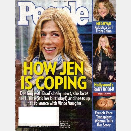 PEOPLE Magazine February 4 2006 Jen Aniston Greys Anatomy Vonetta Flowers AMERICAN IDOL Meg Ryan