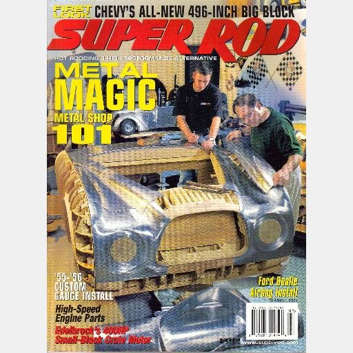 SUPER ROD Magazine March 2001 Vortec 8100 CAMARO '70 RS/SS '65 Mustang Ford F-350 airbag install