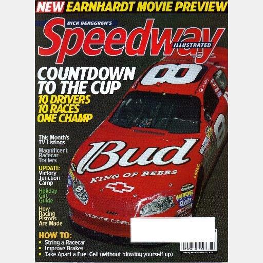 DICK BERGGREN'S SPEEDWAY ILLUSTRATED December 2004 Magazine Ryman Newman JE Pistons