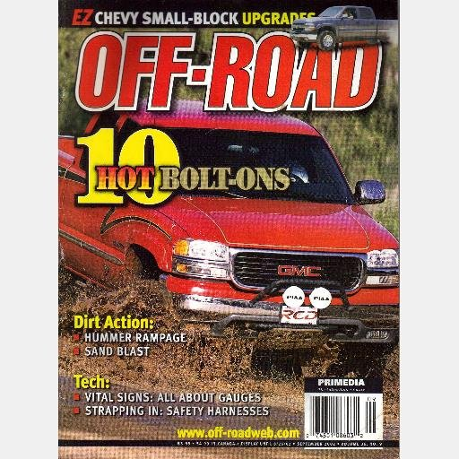 OFF ROAD September 2002 Magazine F-150 SuperCrew FX4 GMC 2500 '99 F-250 Super Duty 6.0 L Vortec V8