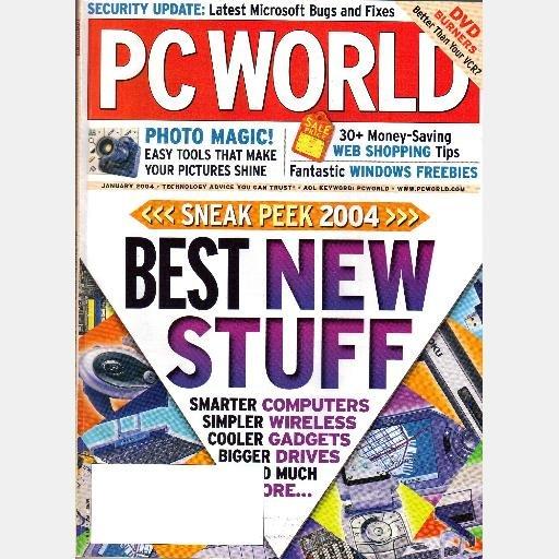 PC WORLD P C Magazine January 2004 Dell Axim X3i ATI Radeon 9800 XT NVidia GeForce FX 5950 Ultra
