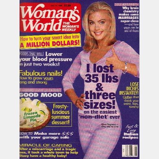WOMAN'S WOMANS WORLD Magazine July 14 1998 Gina Tagnoni