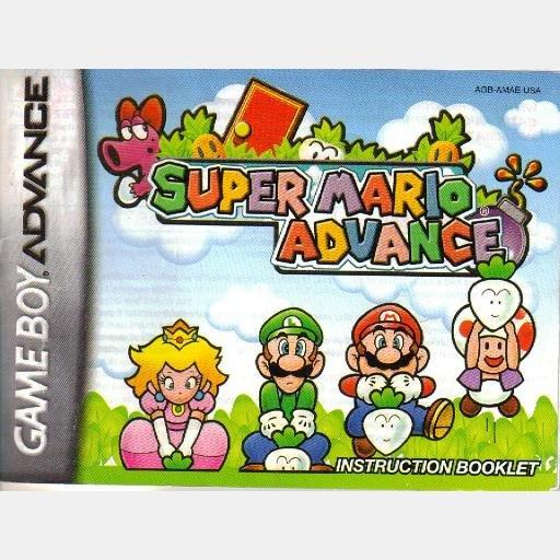 INSTRUCTION BOOKLET SUPER MARIO ADVANCE Gameboy advance Nintendo 2001