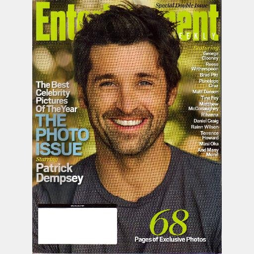 ENTERTAINMENT WEEKLY October 19 2007 Magazine 959 960 PATRICK DEMPSEY Photo Issue