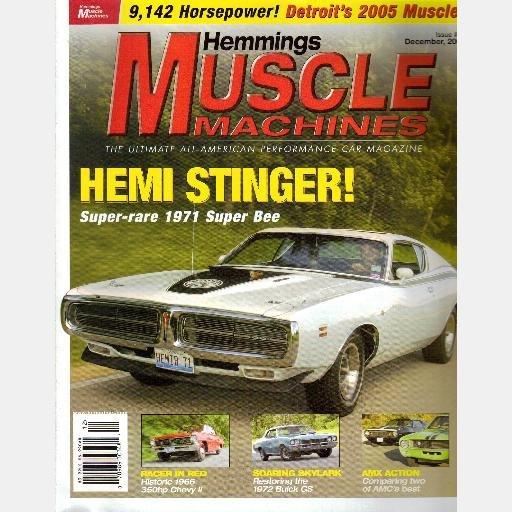 HEMMINGS MUSCLE MACHINES Magazine December 2004 Hemi Stinger 1971 Dodge Super Bee 1966 Chevy II L79
