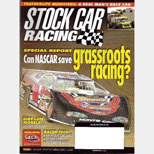 STOCK CAR RACING Magazine December 2004 Dave Reutinamm Featherlite Modifieds Bias Braking
