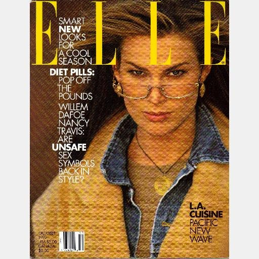 ELLE OCTOBER 1992 Magazine MEGHAN DOUGLAS cover Christian Lacroix Diet Pills LA CUISINE