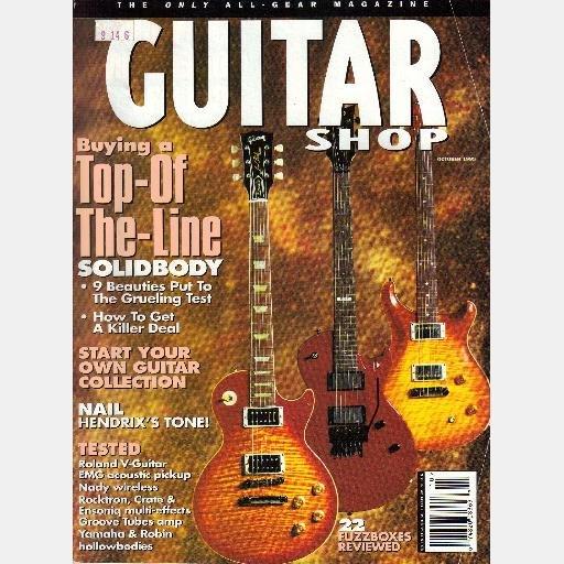 GUITAR SHOP October 1995 Magazine Jimi Hendrix tone Eddie Van Halen Sound Steve Hackett Tony Iommi