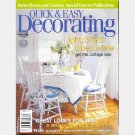 BETTER HOMES GARDENS QUICK EASY DECORATING Magazine 2001 BLUE WHITE COTTAGE LOOK Lattice Debra Fritz