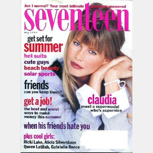 SEVENTEEN May 1994 Magazine CLAUDIA SCHIFFER cover