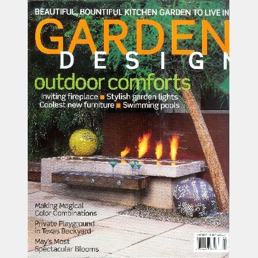 GARDEN DESIGN May 2007 #145 Magazine Fireplaces Dan Hunter Color Charles Jencks  Yew Dell Gardens