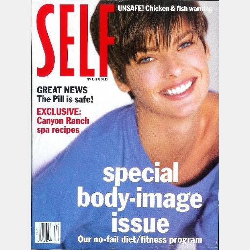 SELF Magazine APRIL 1992 LINDA EVANGELISTA cover