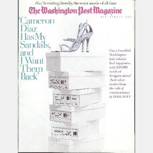 THE WASHINGTON POST MAGAZINE December 14 2003 CAMERON DIAZ Has My Sandals I Want PLAN 9 OUTER SPACE