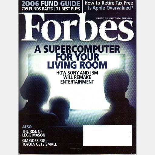 FORBES January 30 2006 Magazine SUPERCOMPUTER Sony IBM LEGG MASON 2006 Fund Guide